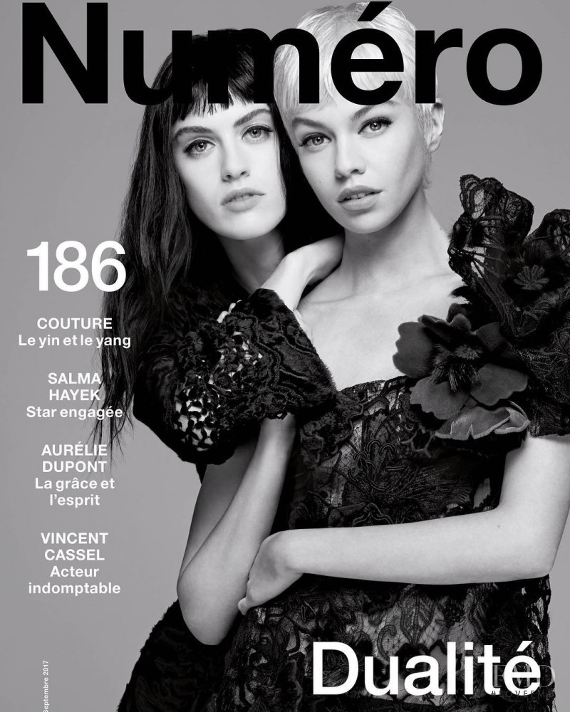 Stella Maxwell, Sarah Brannon featured on the Numéro France cover from September 2017