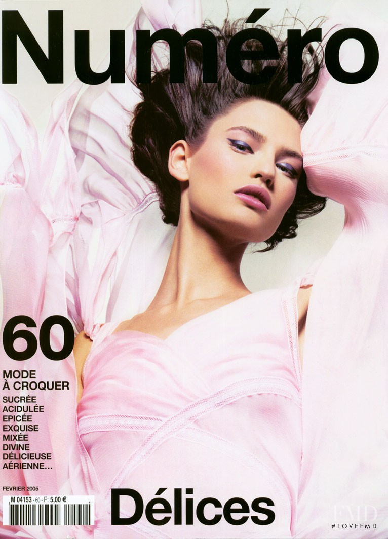 Bianca Balti featured on the Numéro France cover from February 2005