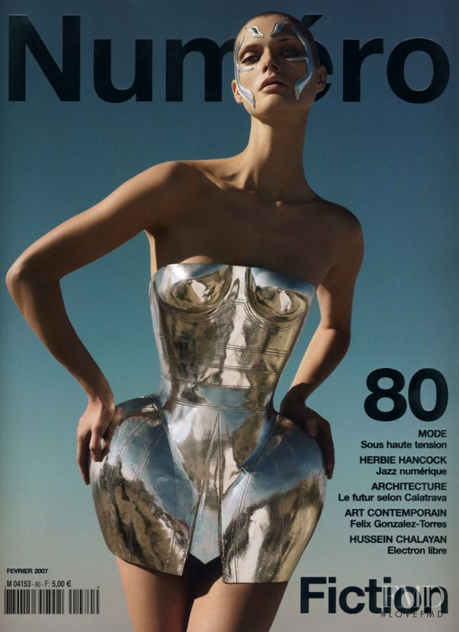 Malgosia Bela featured on the Numéro France cover from February 2007