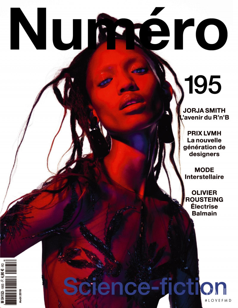 Adesuwa Aighewi featured on the Numéro France cover from August 2018