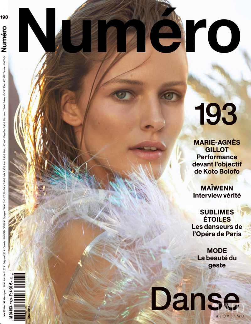 Edita Vilkeviciute featured on the Numéro France cover from May 2018