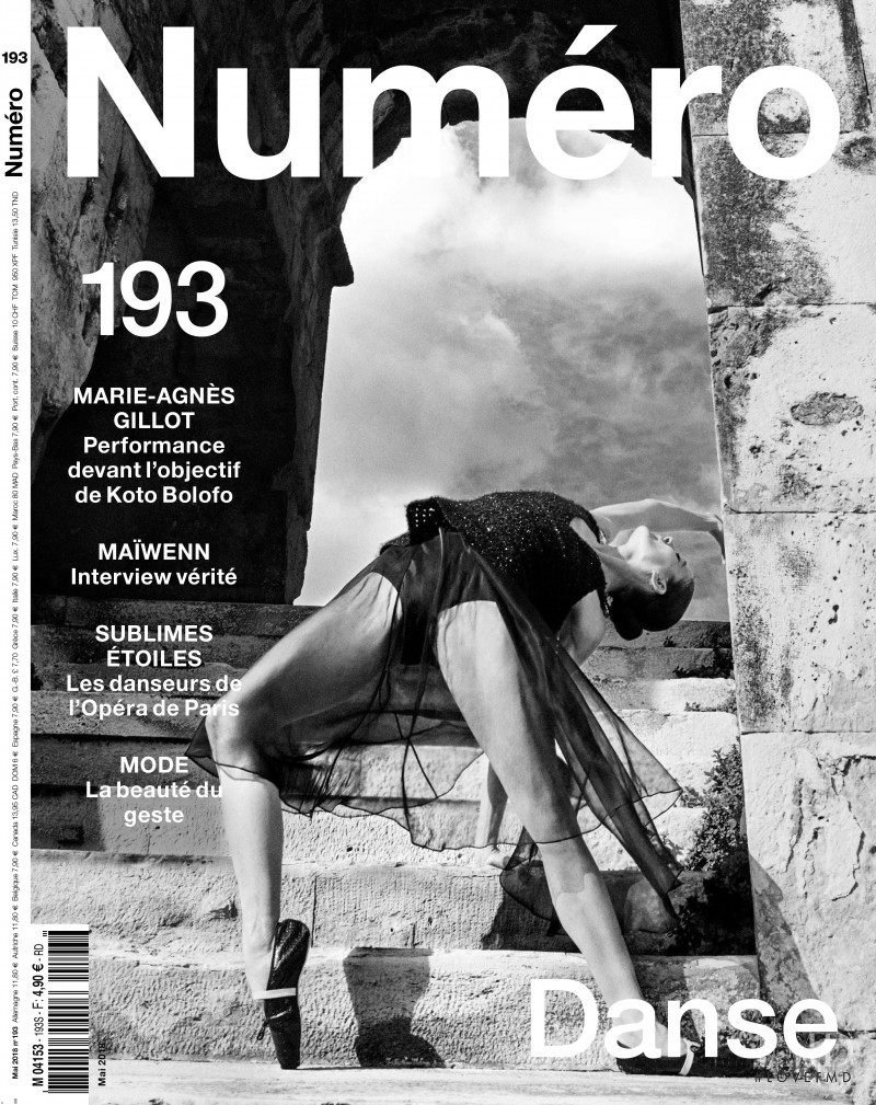 Marie-Agnès Gillot featured on the Numéro France cover from May 2018