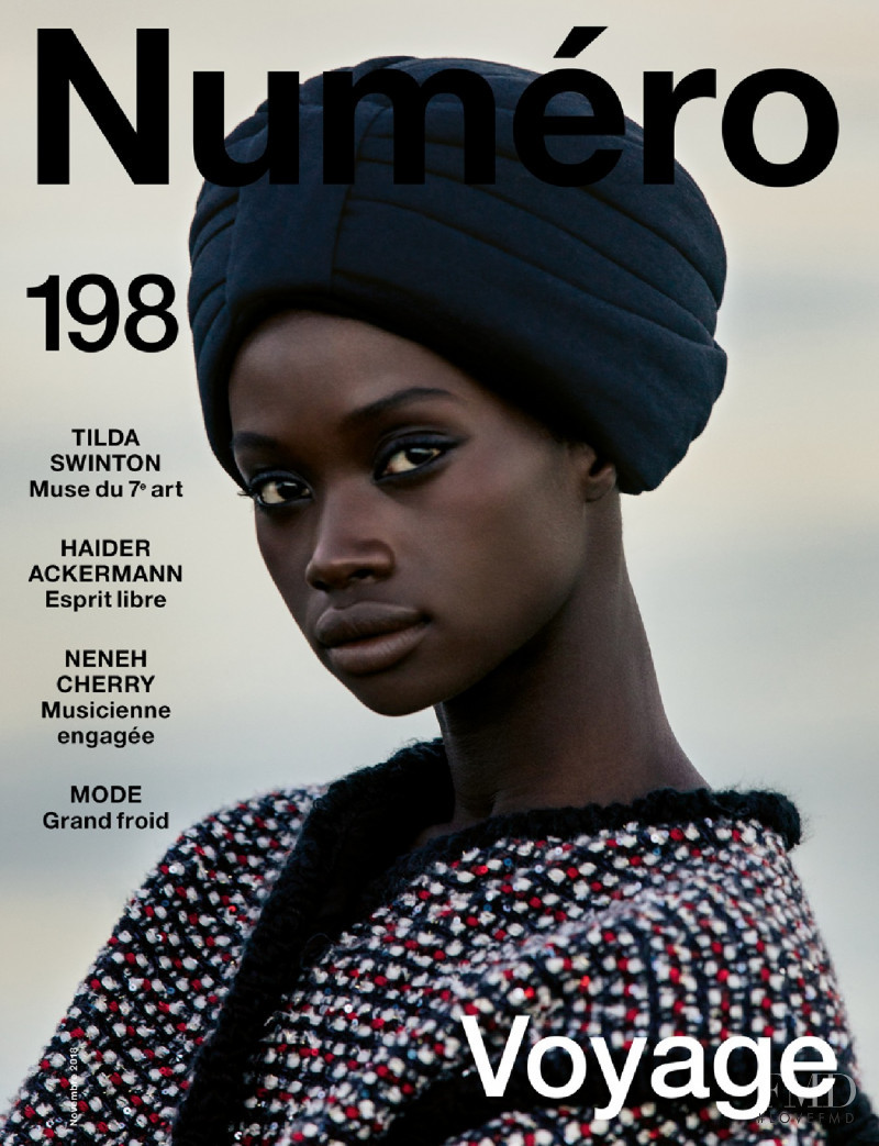 Fatou Jobe featured on the Numéro France cover from November 2018