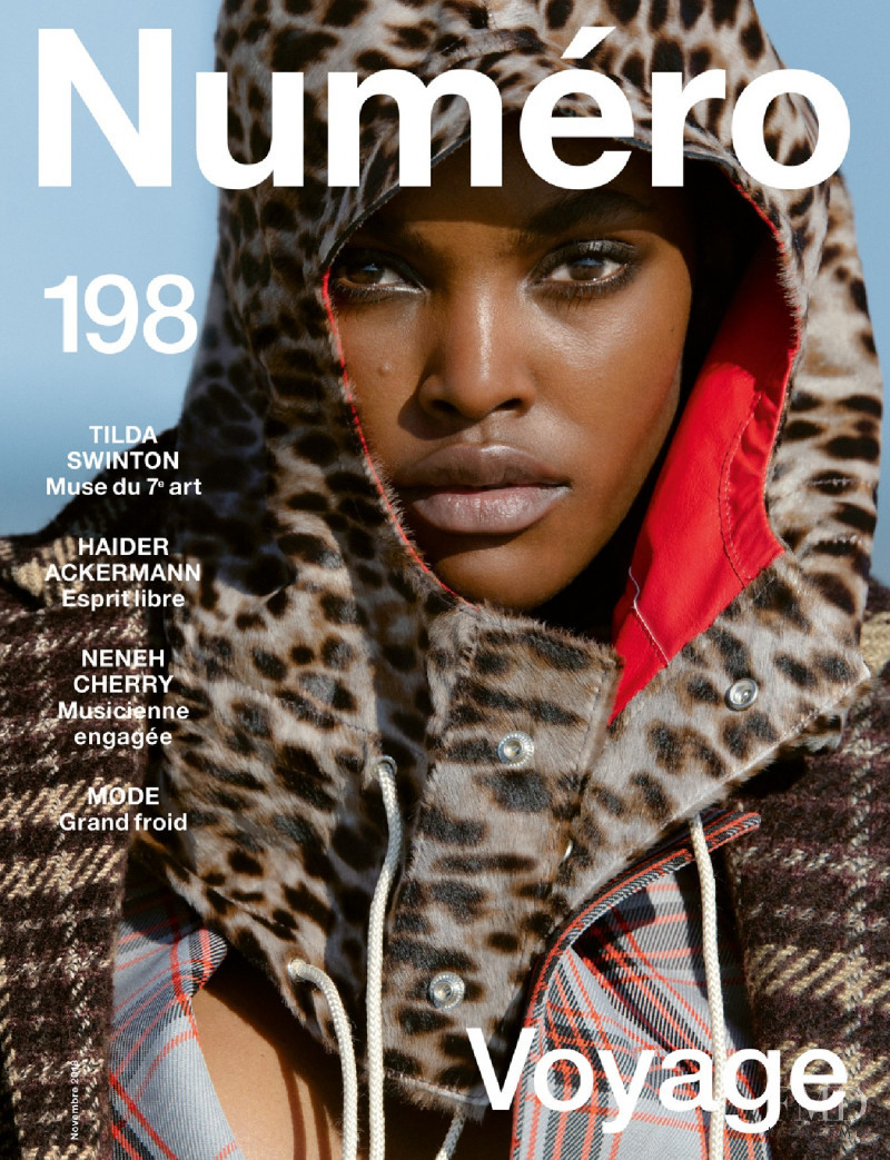 Amilna Estevão featured on the Numéro France cover from November 2018