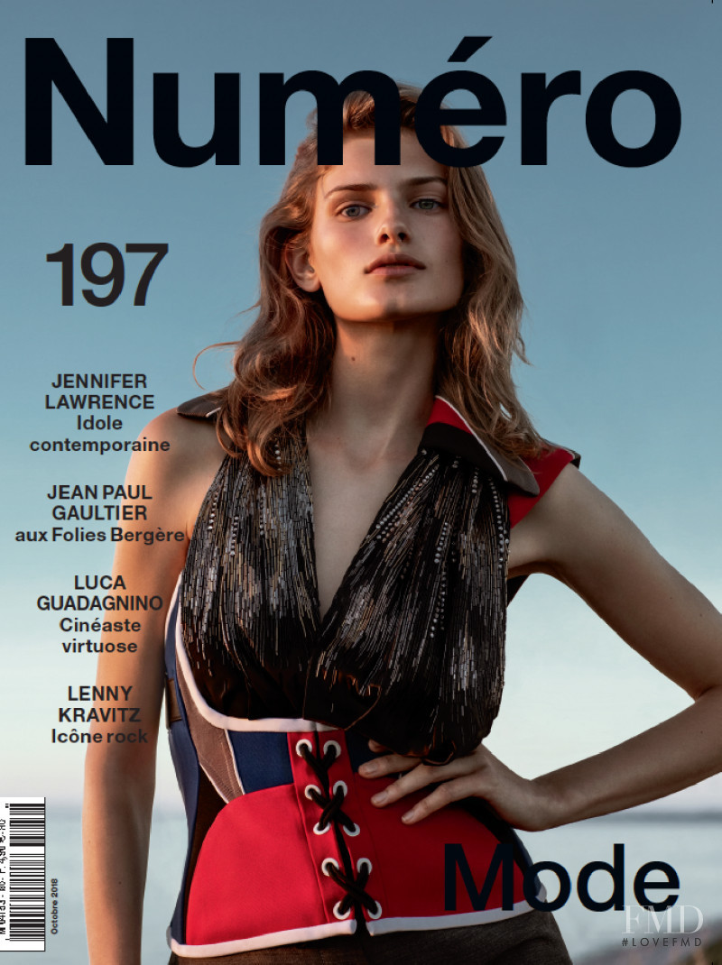 Signe Veiteberg featured on the Numéro France cover from October 2018