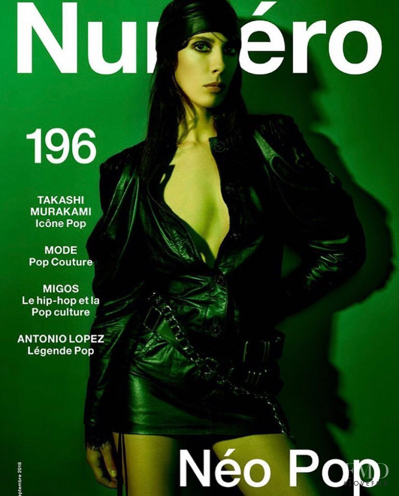 Jamie Bochert featured on the Numéro France cover from September 2018