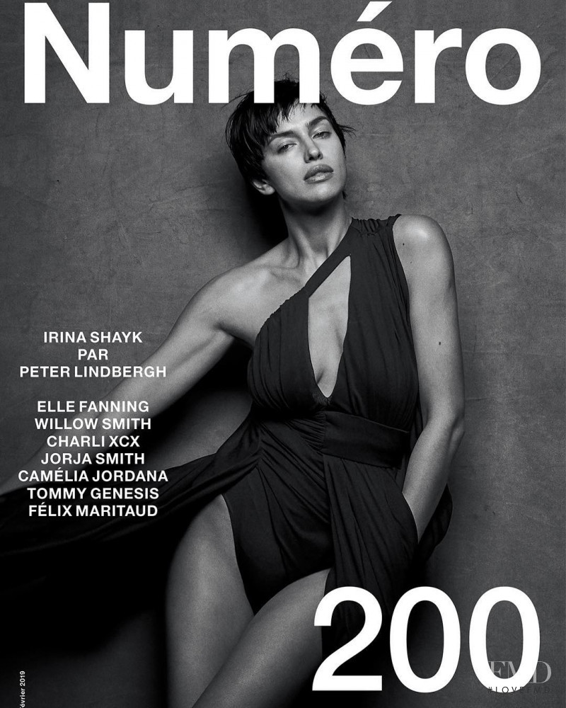 Irina Shayk featured on the Numéro France cover from February 2019