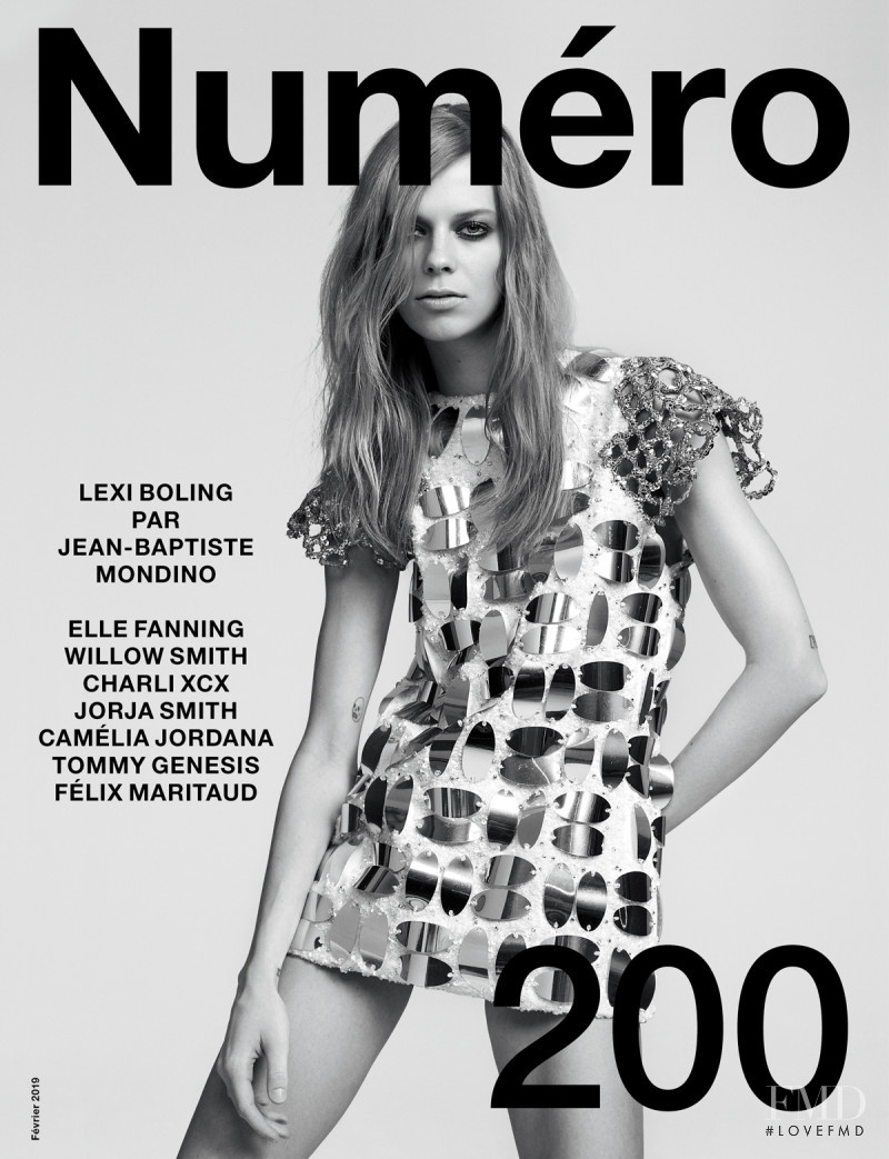 Lexi Boling featured on the Numéro France cover from February 2019