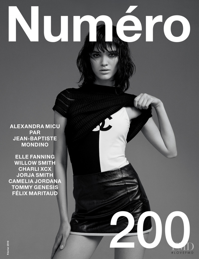 Alexandra Maria Micu featured on the Numéro France cover from February 2019