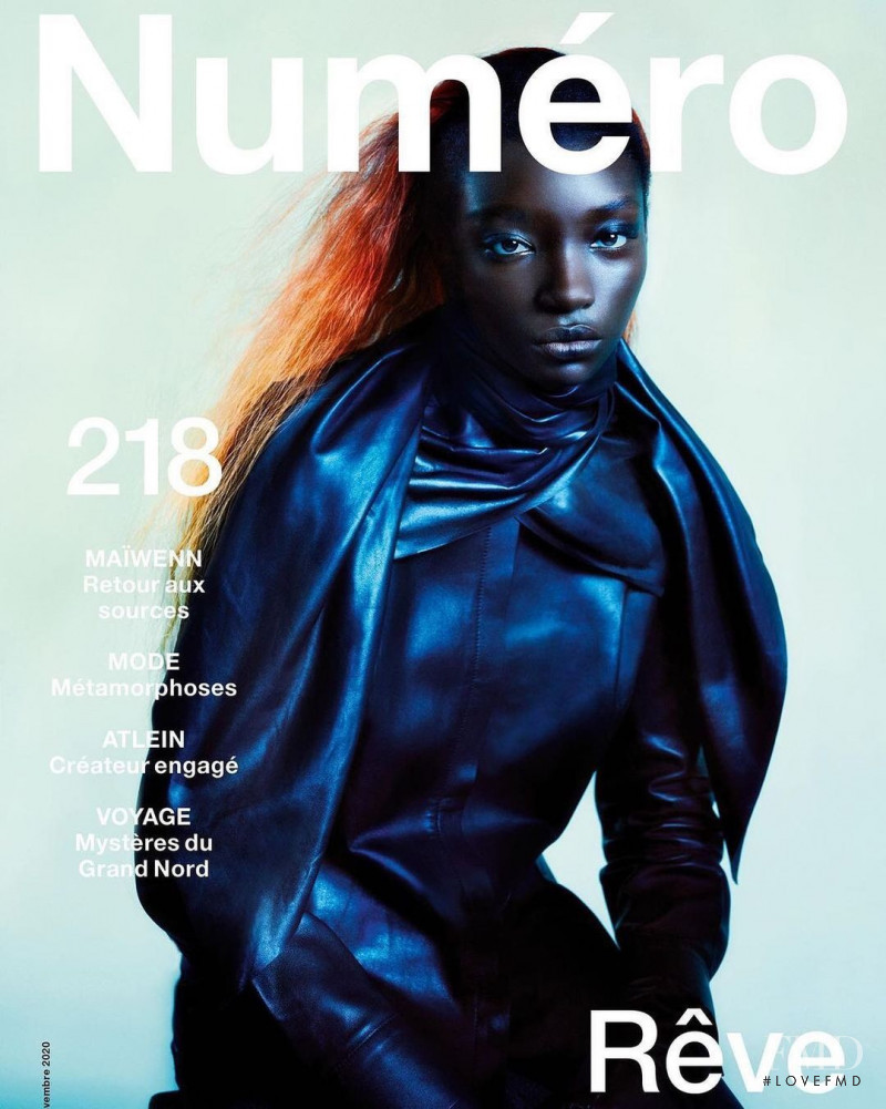 Assa Baradji featured on the Numéro France cover from November 2020