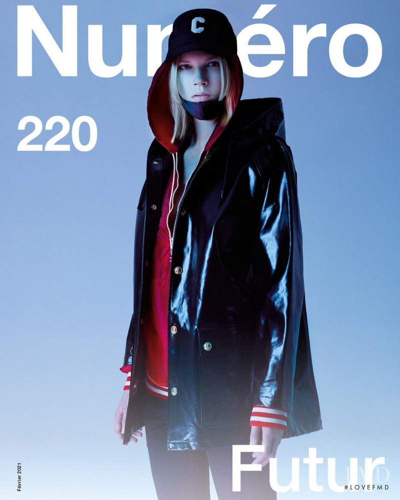 Lydia Kloos featured on the Numéro France cover from February 2021