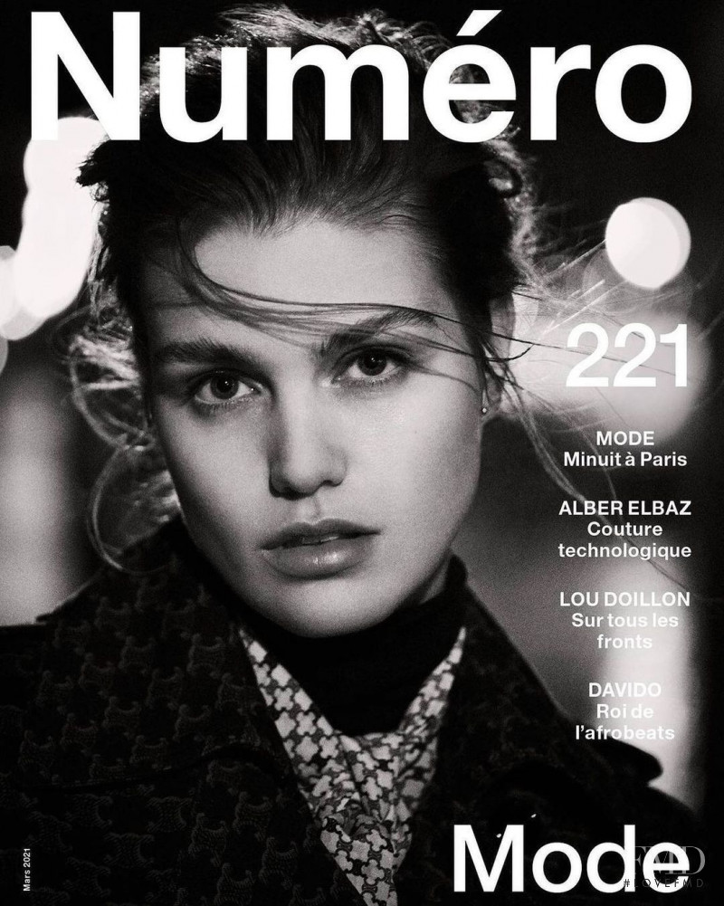 Luna Bijl featured on the Numéro France cover from March 2021