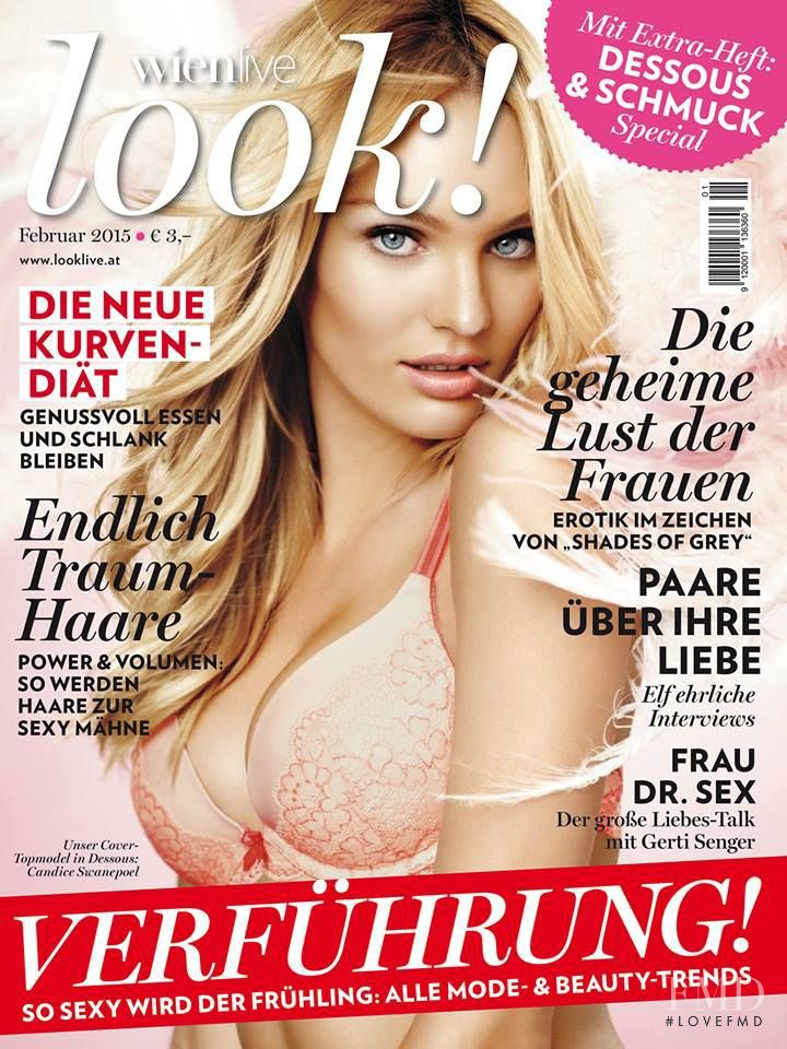 Candice Swanepoel featured on the look! Austria cover from February 2015