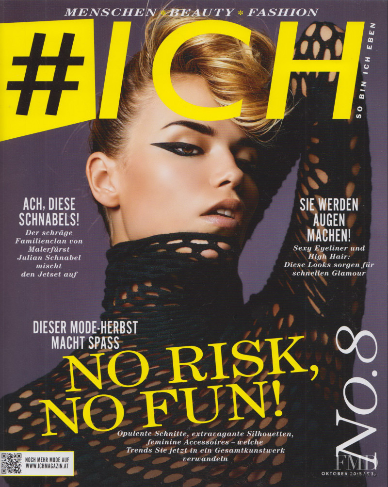Natasha Poly featured on the Ich cover from October 2015