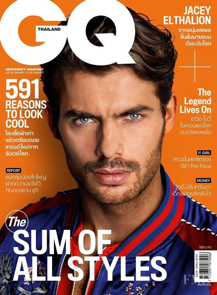 Jacey Elthalion featured on the GQ Thailand cover from March 2016