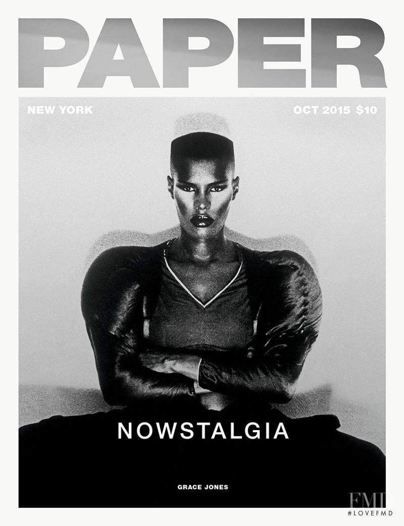 Grace Jones featured on the Paper cover from October 2015