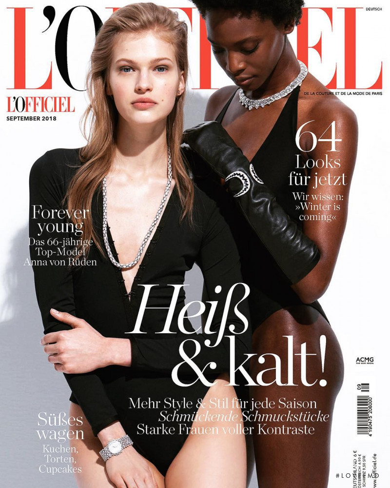 Aivita Muze, Marie Fofana featured on the L\'Officiel Germany cover from September 2018
