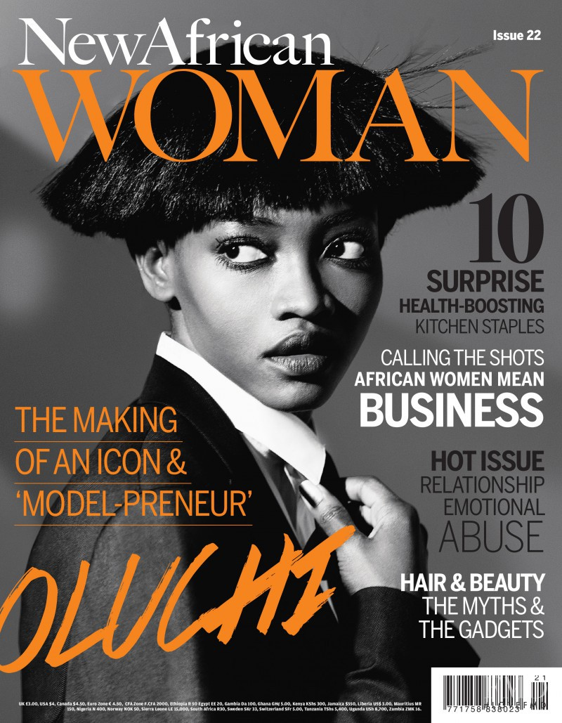 Oluchi Onweagba featured on the New African Woman cover from October 2013