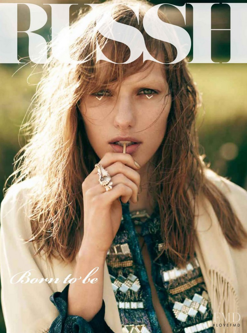 Marique Schimmel featured on the Russh cover from December 2011