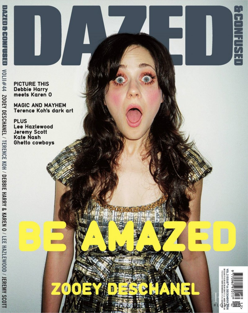 Zooey Deschanel featured on the Dazed & Confused cover from December 2006
