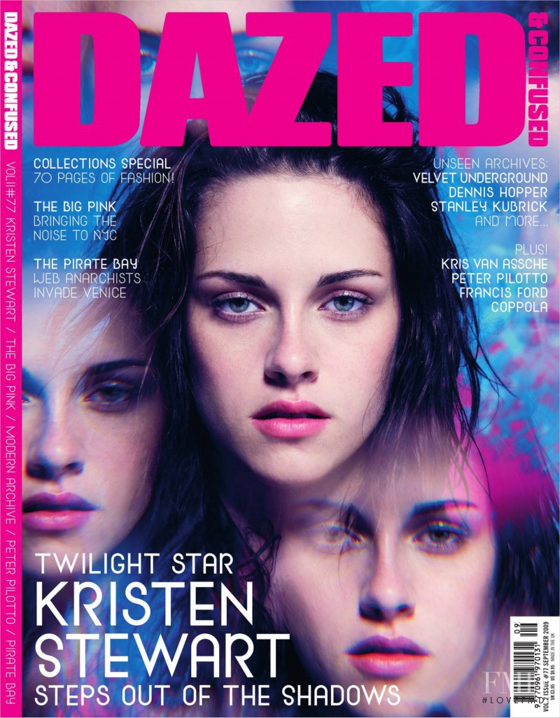 Kristen Stewart featured on the Dazed & Confused cover from September 2009