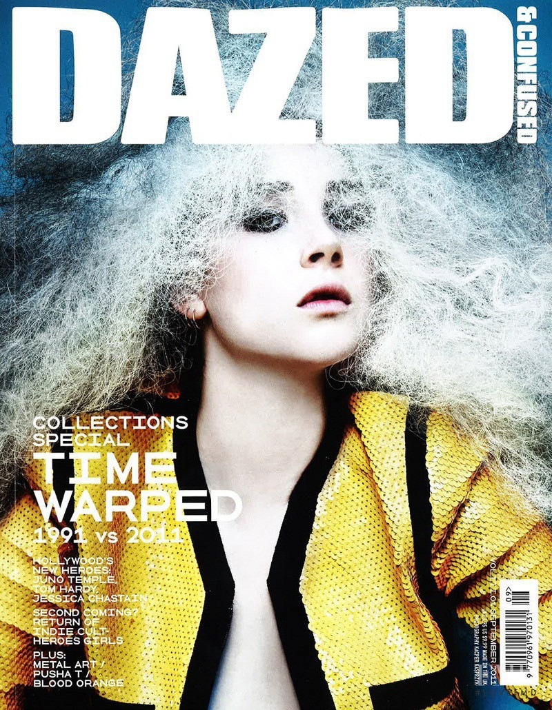 Juno Temple featured on the Dazed & Confused cover from September 2011