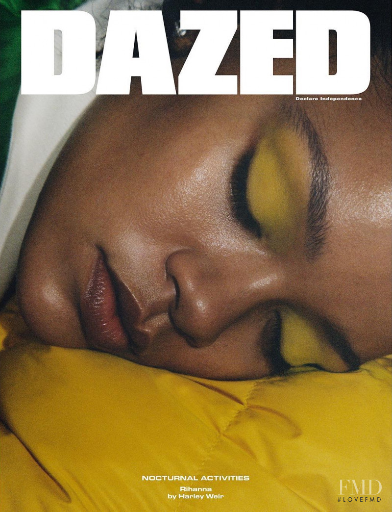 Rihanna featured on the Dazed & Confused cover from November 2017