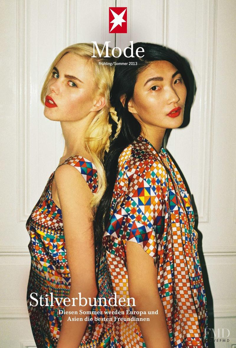 Emma Xie, Julia Almendra featured on the Stern Mode cover from February 2013