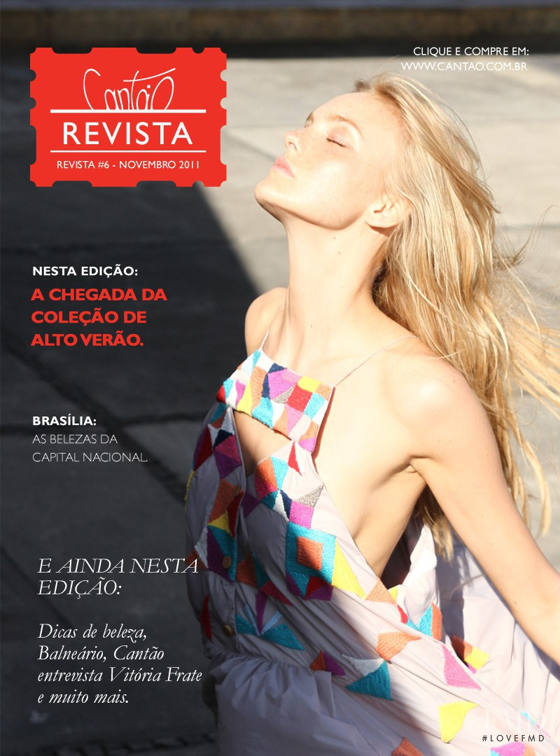 Caroline Trentini featured on the Cantão cover from November 2011