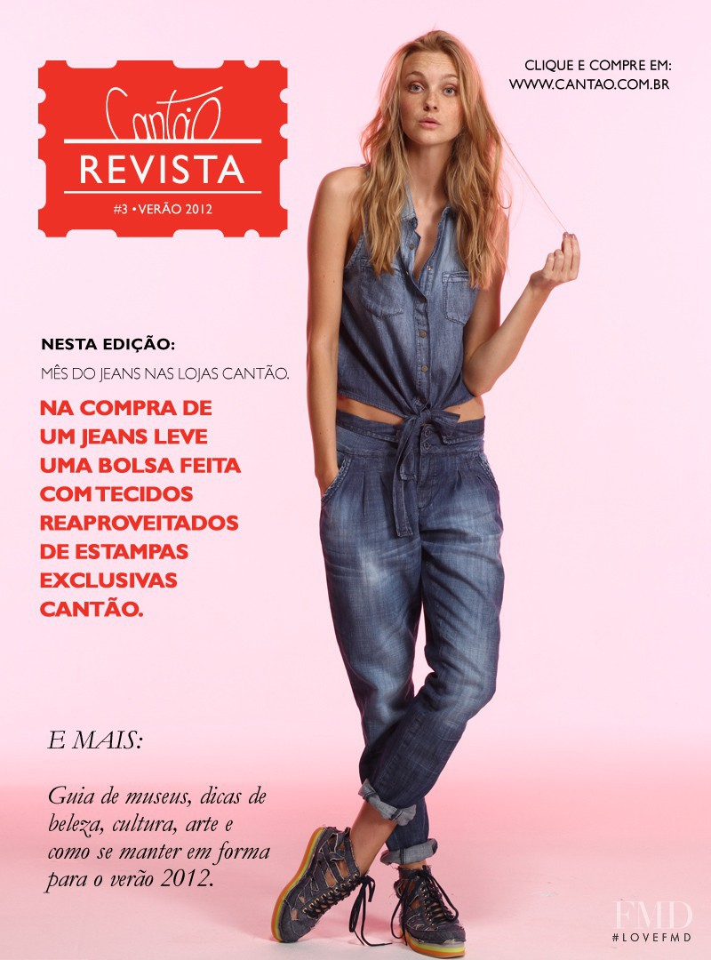 Caroline Trentini featured on the Cantão cover from May 2012