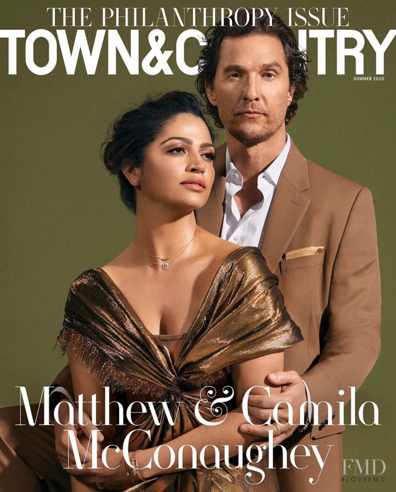 Matthew McConaughey, Camila Alves McConaughey featured on the Town & Country cover from July 2020