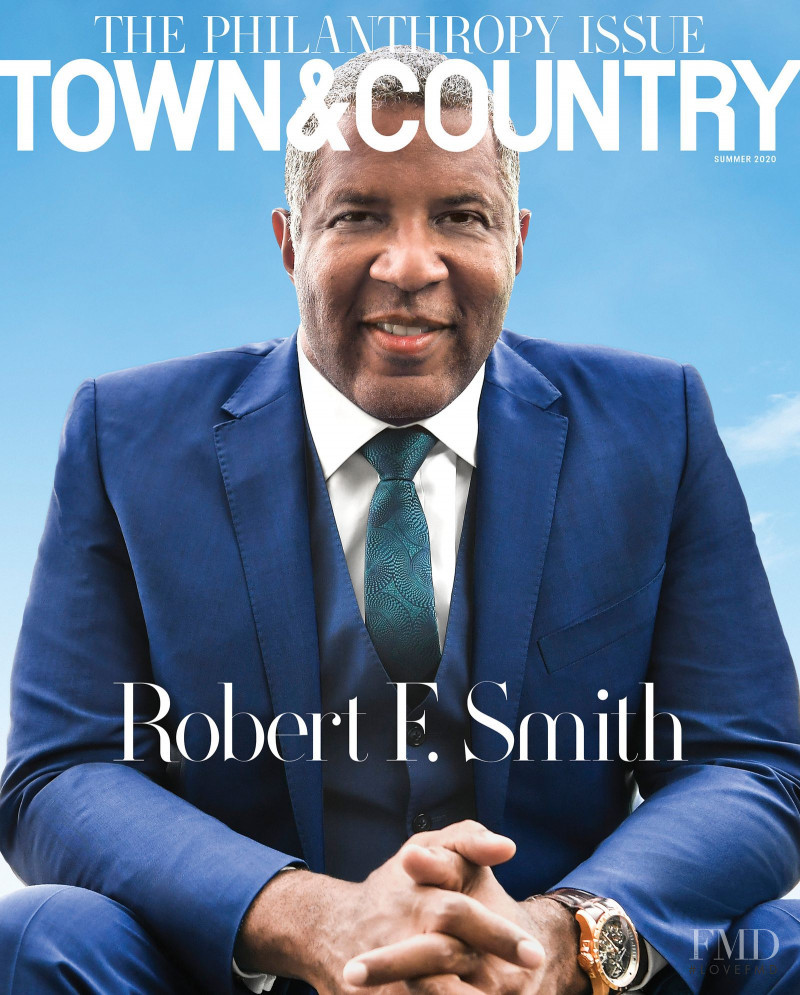 Robert F. Smith featured on the Town & Country cover from July 2020