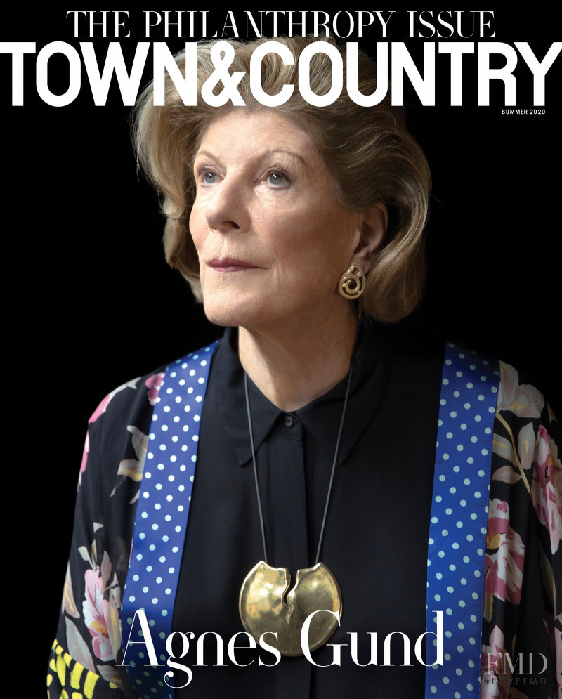Agnes Gund featured on the Town & Country cover from July 2020