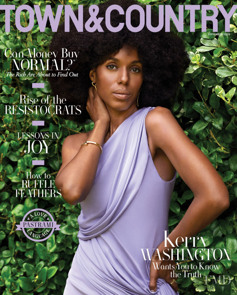 Kerry Washington featured on the Town & Country cover from September 2020