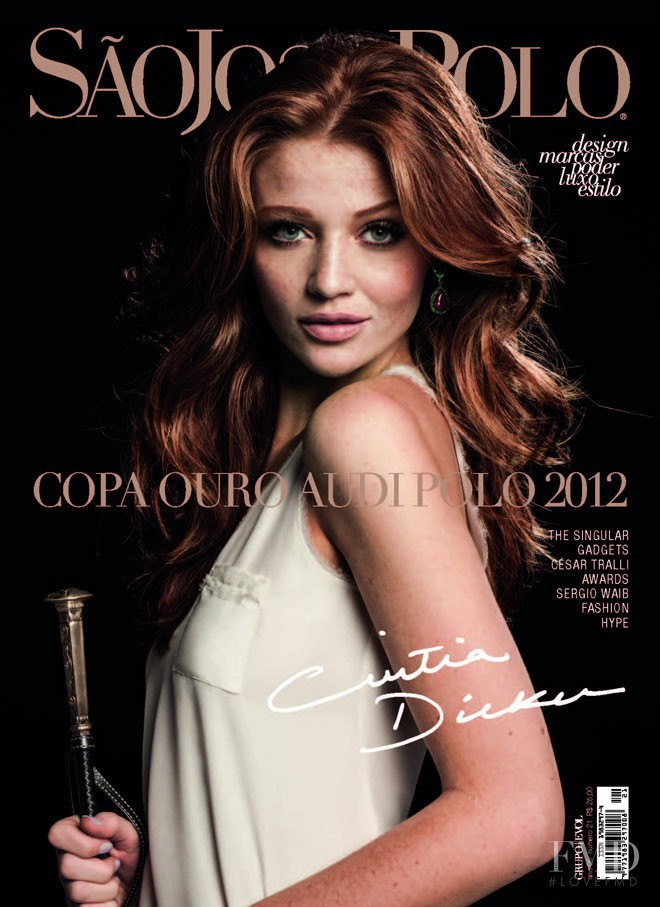 Cintia Dicker featured on the São José Polo cover from September 2012