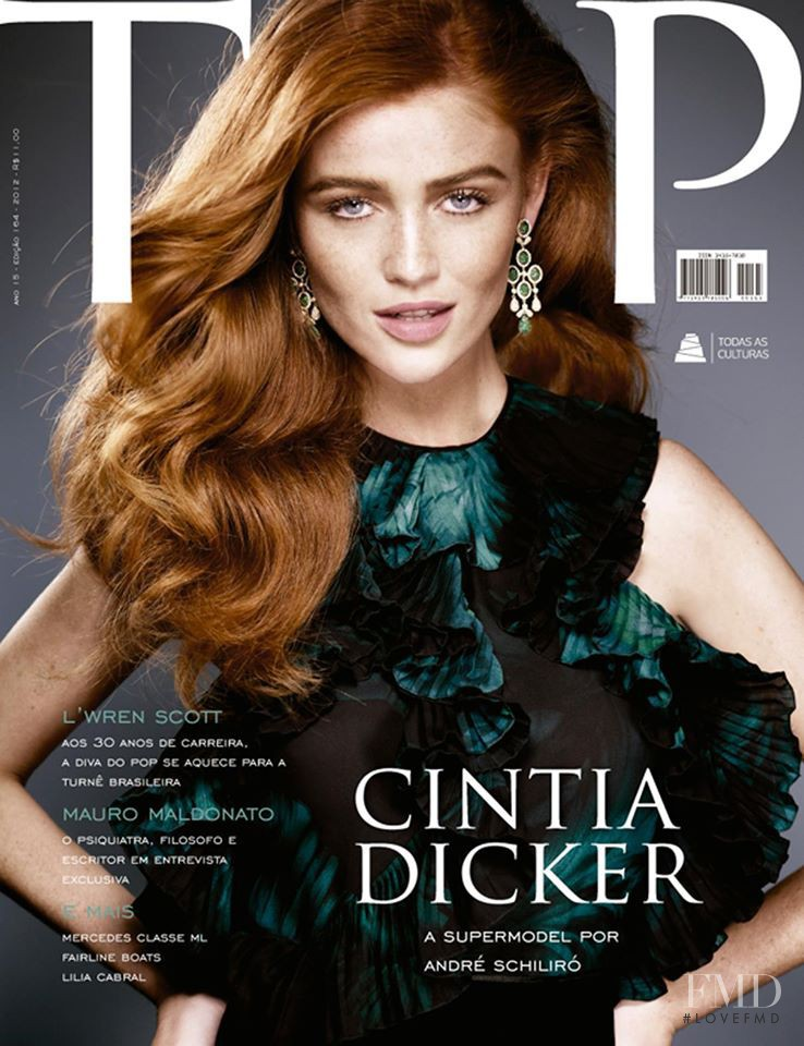 Cintia Dicker featured on the TOP cover from September 2012