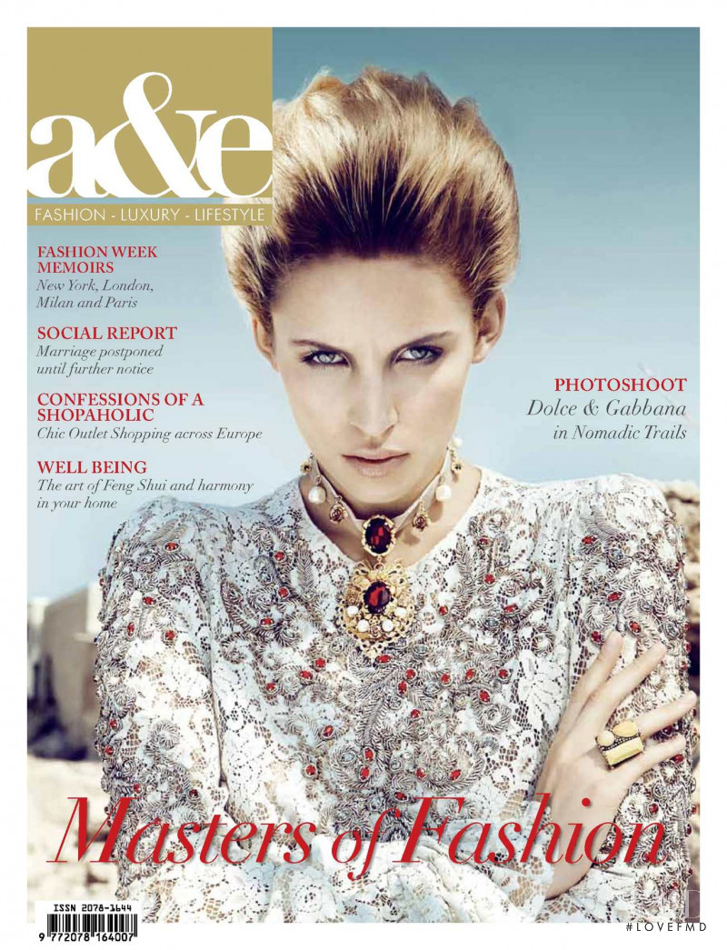 Gemma featured on the a&e cover from November 2012
