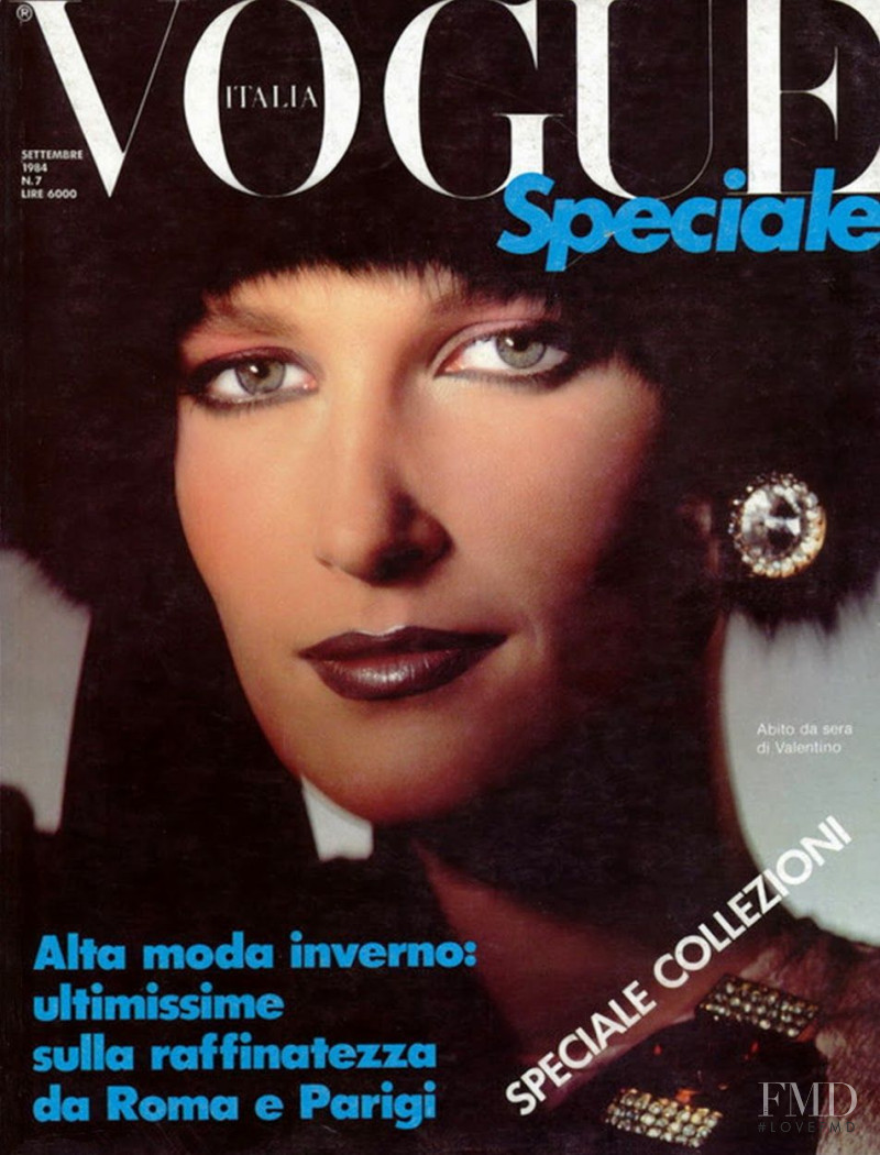 Felicitas Boch featured on the Vogue Italy cover from September 1984