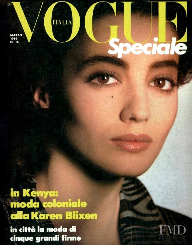 Jose Toledo featured on the Vogue Italy cover from March 1986