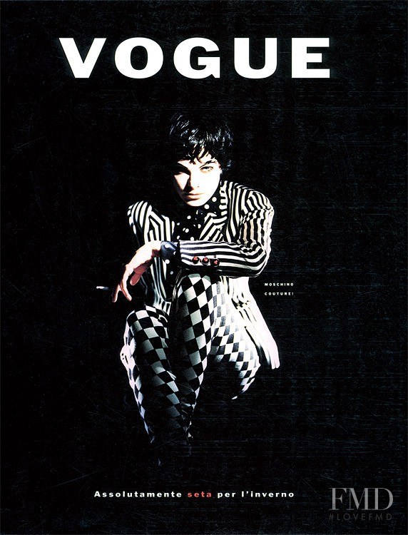 featured on the Vogue Italy cover from November 1989