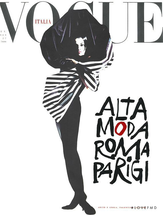 featured on the Vogue Italy cover from September 1989