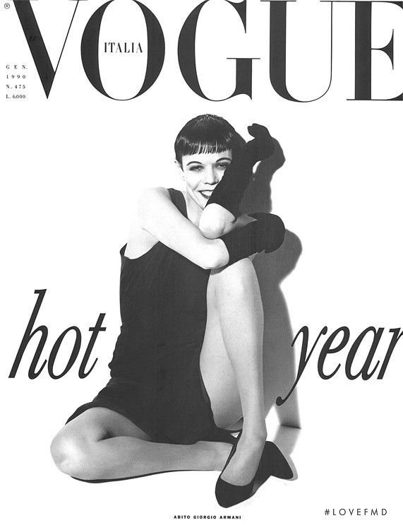 featured on the Vogue Italy cover from January 1990
