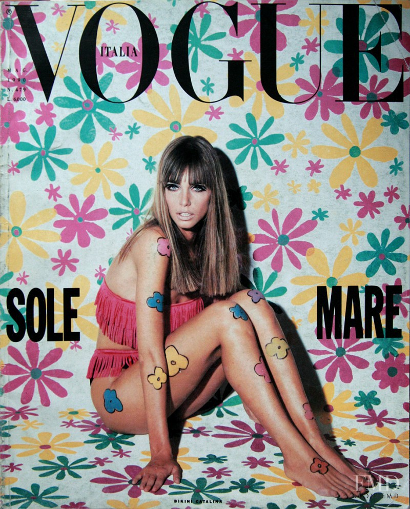 Roberto Chirko featured on the Vogue Italy cover from May 1990