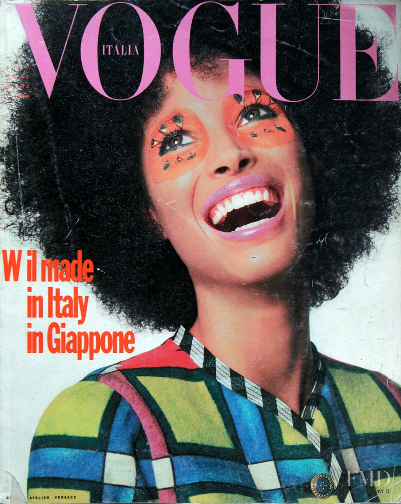 Christy Turlington featured on the Vogue Italy cover from November 1990