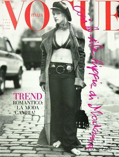 Madonna featured on the Vogue Italy cover from November 1992