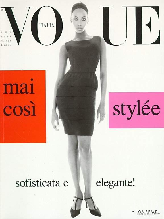 Beverly Peele featured on the Vogue Italy cover from April 1994