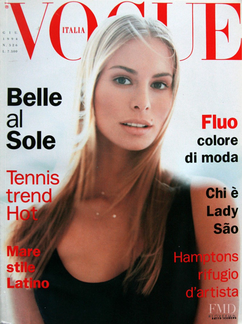 Niki Taylor featured on the Vogue Italy cover from June 1994