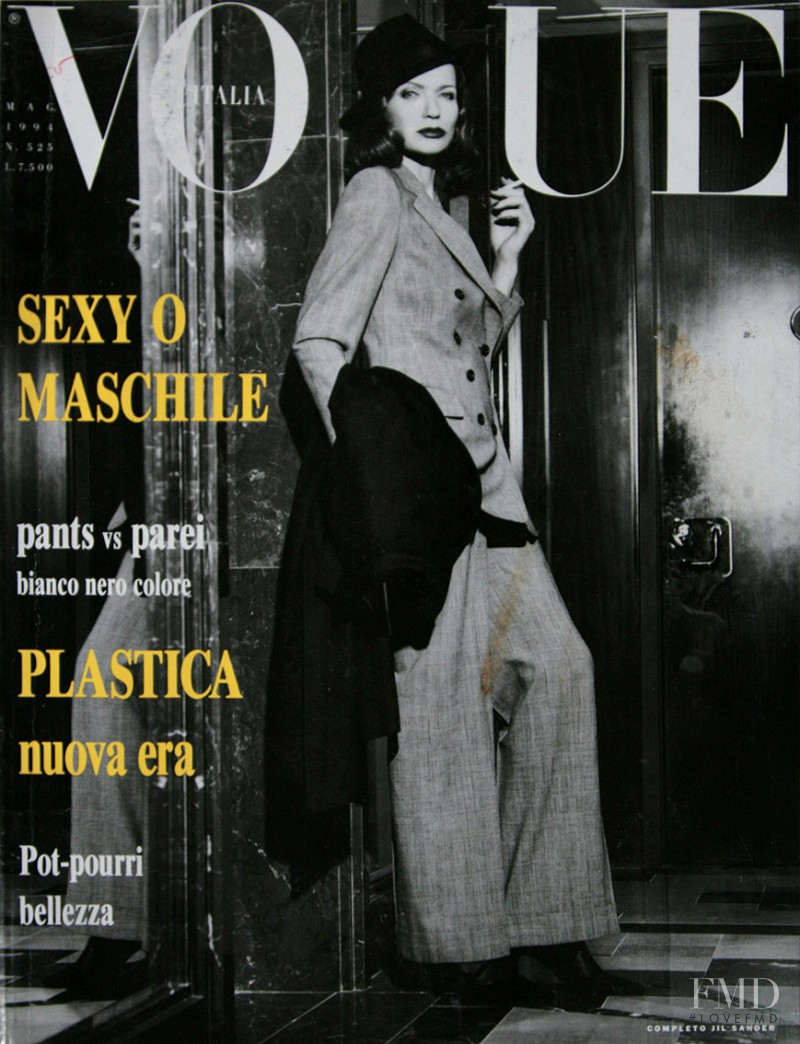 Veruschka von Lehndorff featured on the Vogue Italy cover from May 1994