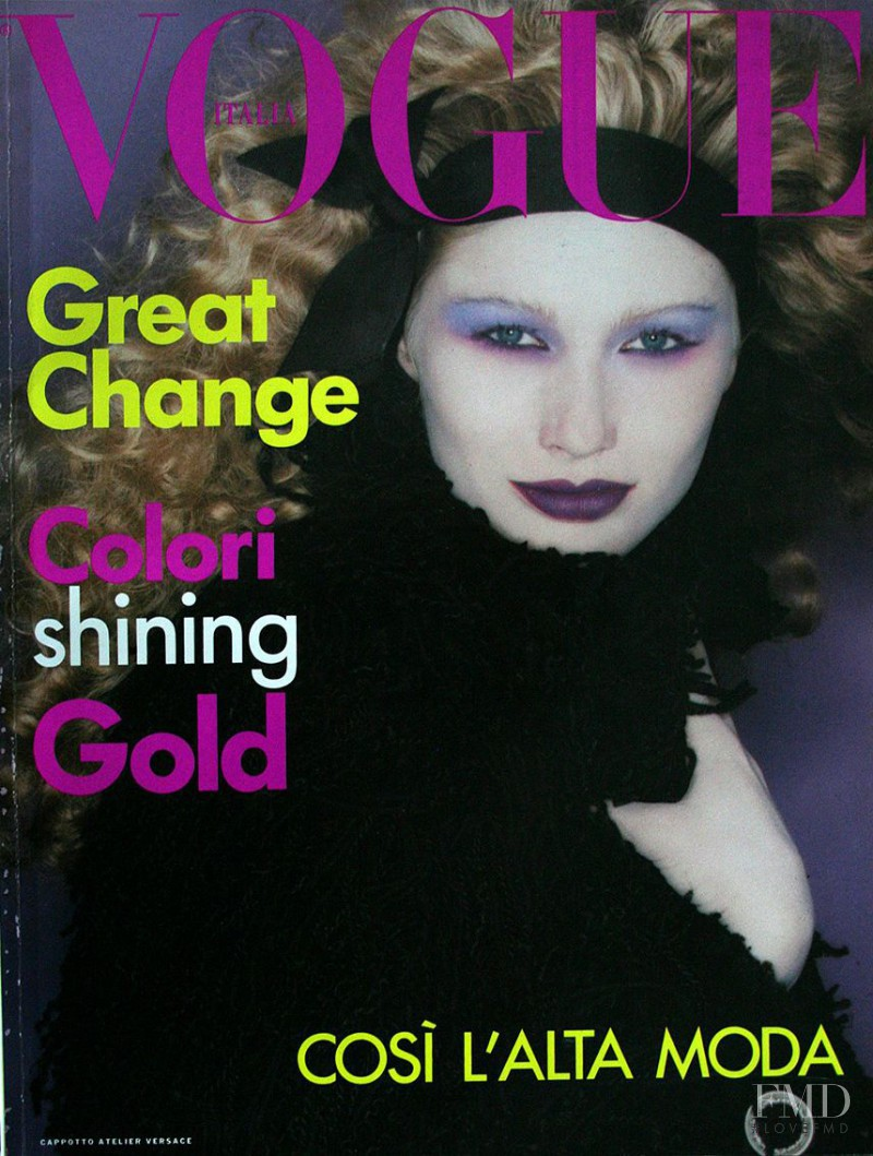 Kirsty Hume featured on the Vogue Italy cover from September 1994