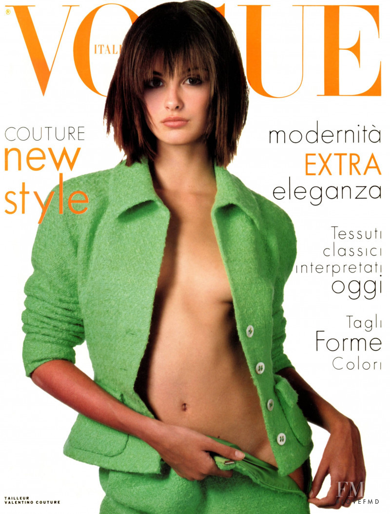 Trish Goff featured on the Vogue Italy cover from March 1995